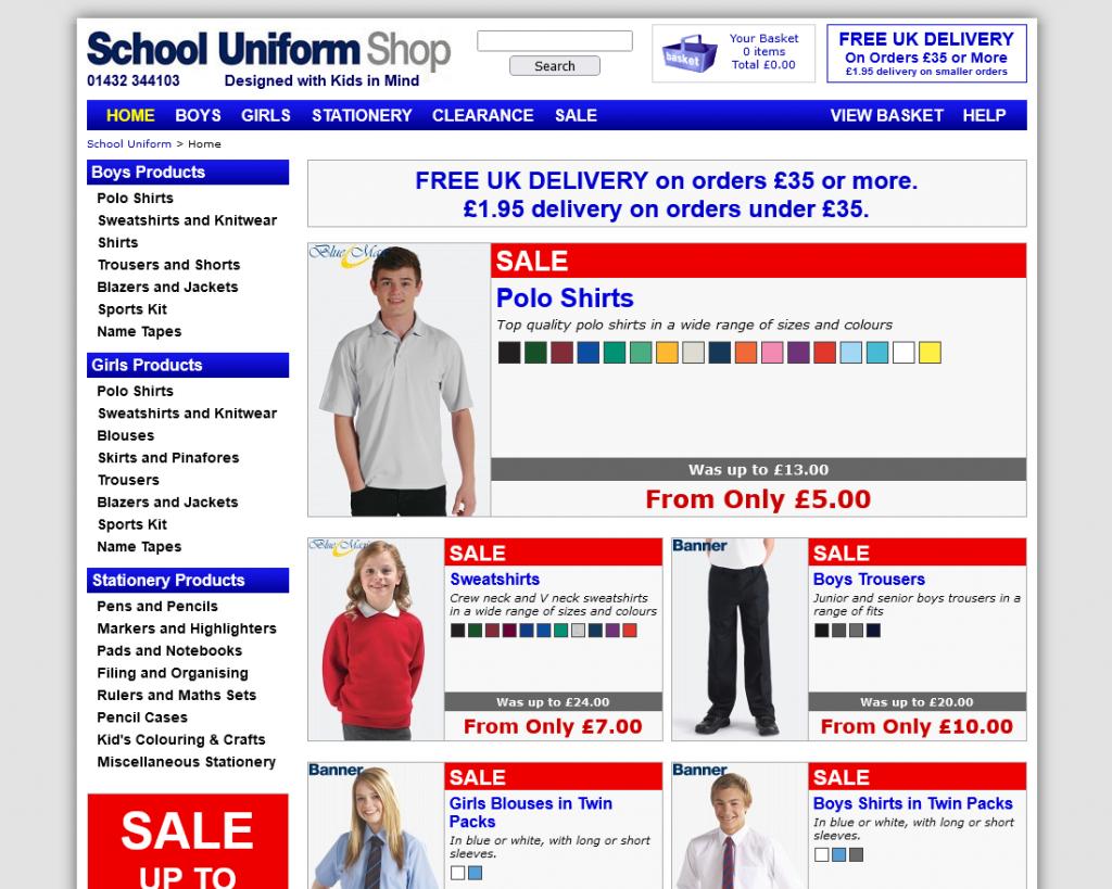 School Uniform Shop 2012